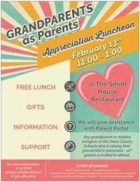 Grandparents as parents luncheon flyer